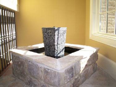 Granite Centerpiece with Stone Surround